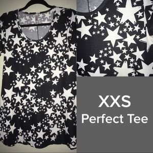 XXS Star LuLaRoe Perfect Tee - NWOT